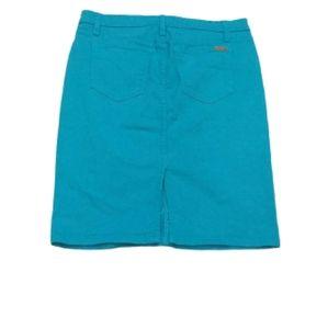 Joe's Jeans turquoise blue denim skirt
